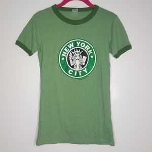 New York Starbucks Logo Tee Top Shirt Siren NYC E